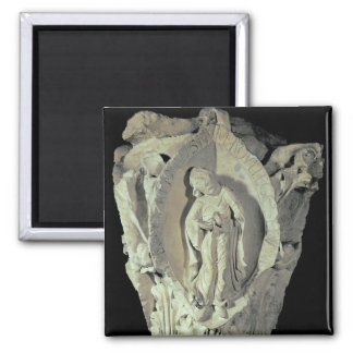 Capital depicting the Second Key of Plainsong 2 Inch Square Magnet
