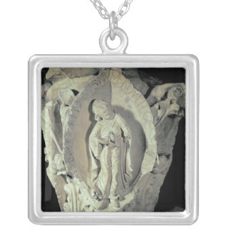 Capital depicting the Second Key of Plainsong Silver Plated Necklace