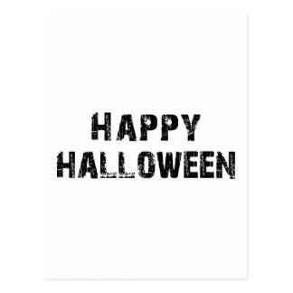Capital Grunge Happy Halloween Postcard