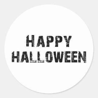 Capital Grunge Happy Halloween Round Sticker