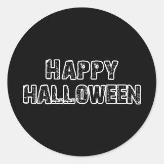 Capital Grunge Happy Halloween Round Stickers