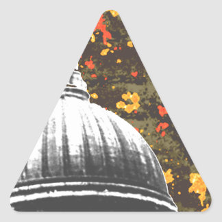 Capital Grunge Triangle Sticker