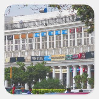 Capital hermosa la India de Nueva Deli del lugar Pegatina Cuadrada