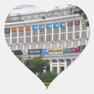 Capital hermosa la India de Nueva Deli del lugar Pegatina En Forma De Corazón