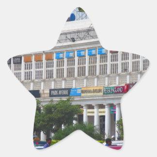 Capital hermosa la India de Nueva Deli del lugar Pegatina En Forma De Estrella