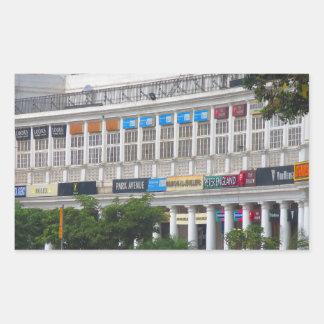 Capital hermosa la India de Nueva Deli del lugar Pegatina Rectangular