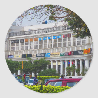 Capital hermosa la India de Nueva Deli del lugar Pegatina Redonda