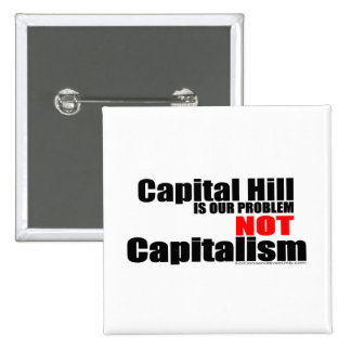 Capital Hill is our Problem, Not Capitalism Pinback Buttons