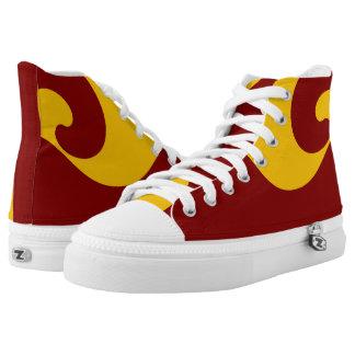 Capital II Wave Designer Hi-Top Printed Shoes