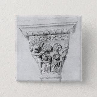 Capital illustrating the vice of despair pinback button