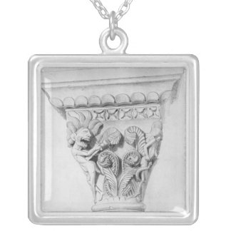 Capital illustrating the vice of despair silver plated necklace