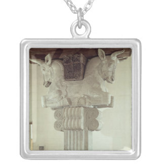Capital in the Persian style Silver Plated Necklace