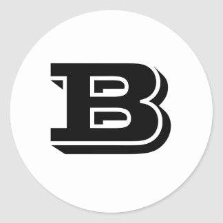 Capital Letter B Large Round Stickers by Janz