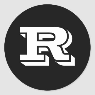 Capital Letter R Large Round Stickers by Janz
