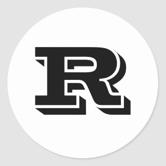 Capital Letter R Small Round Stickers by Janz