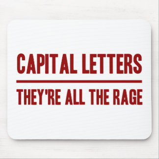 Capital Letters Mouse Pad