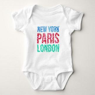 Capital New York Paris London typography, t-shirt