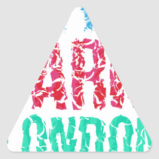 Capital New York Paris London typography, t-shirt Triangle Sticker