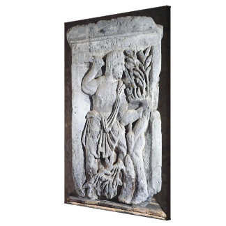 Capital of The Nautes Pillar Canvas Print