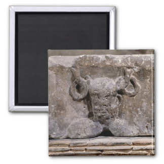 Capital of the Nautes Pillar depicting Cernunnos 2 Inch Square Magnet