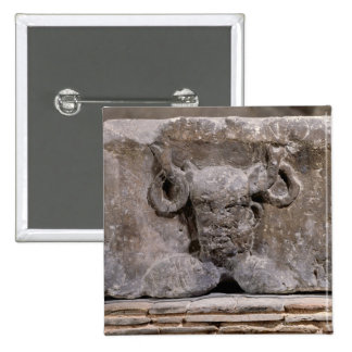 Capital of the Nautes Pillar depicting Cernunnos Button