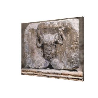 Capital of the Nautes Pillar depicting Cernunnos Canvas Print