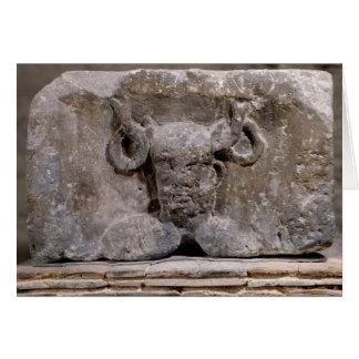 Capital of the Nautes Pillar depicting Cernunnos Card