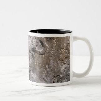 Capital of the Nautes Pillar depicting Cernunnos Two-Tone Coffee Mug