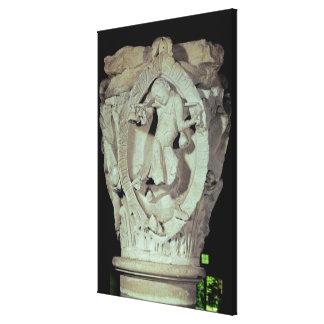 Capital que representa la cuarta llave de Plainson Impresión En Lona Estirada