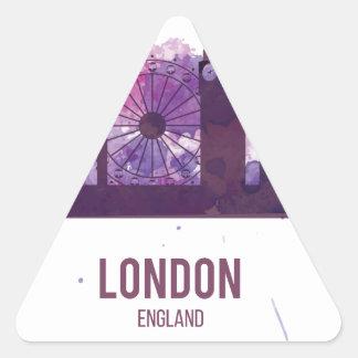 Capital Reino Unido Inglaterra de Wellcoda Londres Pegatina Triangular