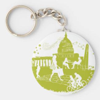 Capital Seasons Illustration Key Chain