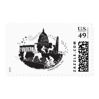 Capital Seasons Illustration Postage Stamp