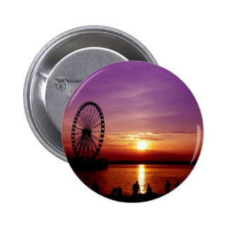 Capital Wheel at Sunset 2 Inch Round Button