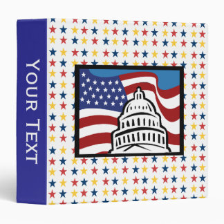 Capital With Stars 3 Ring Binder