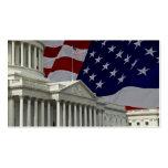 Capital y bandera de Estados Unidos Plantillas De Tarjetas De Visita