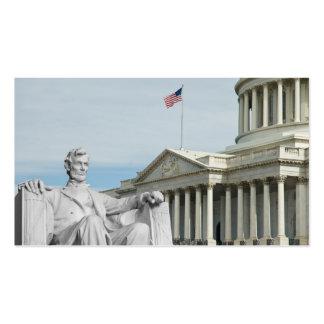 Capital y Lincoln de Estados Unidos Tarjetas De Visita