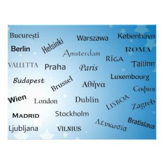 """Capitales de la unión europea folleto 8.5"""" x 11"""""""