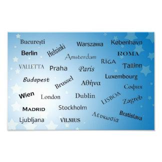 Capitales de la unión europea impresión fotográfica
