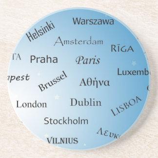 Capitales de la unión europea posavasos manualidades