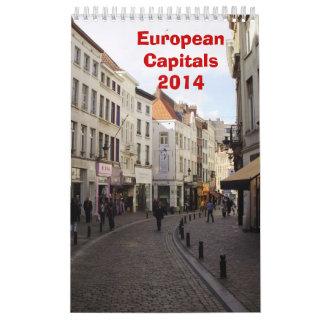 Capitales europeas - 2014 calendario de pared
