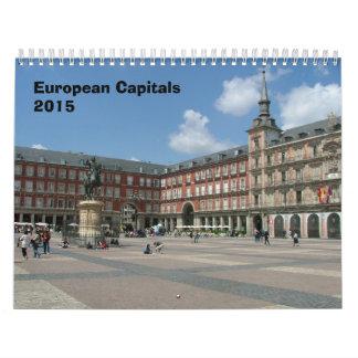 Capitales europeas - 2015 calendarios de pared