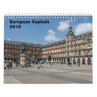 Capitales europeas calendarios de pared
