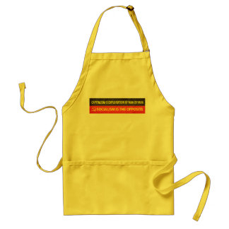 Capitalism and Socialism Adult Apron