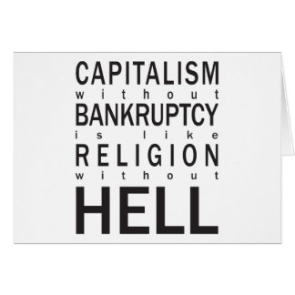 Capitalism Bankruptcy Religion Hell Card
