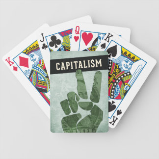 Capitalism Bicycle Playing Cards