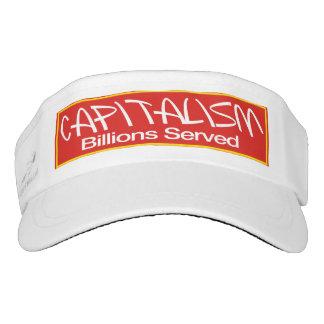 Capitalism Billions Served Visor - Campaign Hats