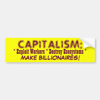 CAPITALISM bumpersticker Bumper Sticker