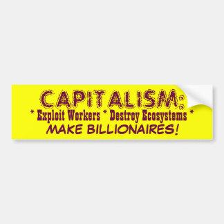 CAPITALISM bumpersticker Car Bumper Sticker