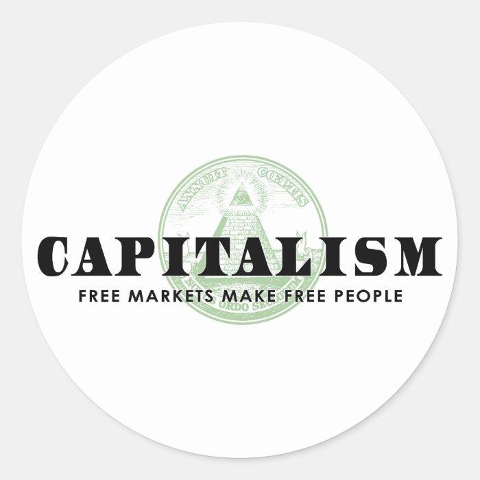 Capitalism Classic Round Sticker