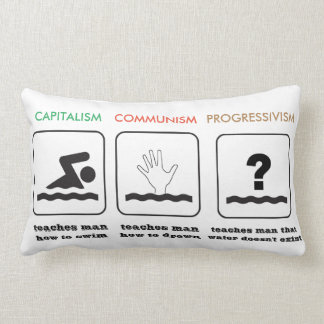 Capitalism Communism Progressivism Pillow